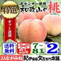紀州和歌山の桃【特選ギフト】2kg/8玉入[ながみね高津]