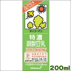 キッコーマン・特濃調整豆乳200ml×18本[常温保存可能]キッコーマン 豆乳