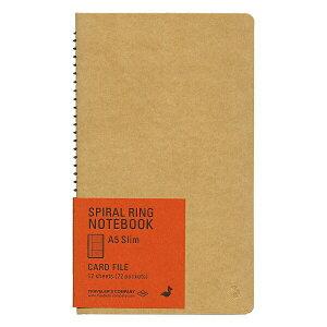 ◆【ミドリ】スパイラルリングノート A5スリム カードファイル 15248006