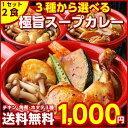 【送料無料】3種から選べる北海道極旨スパイシー.スープカレー2食. (チキン・角煮・ホタテ)レトルトカレー スパイス …