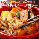 送料無料 3種から選べる北海道極旨スパイシー.スープカレー2食. (チキン・角煮・ホタテ) スパイスカレー レトルトカレ…