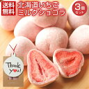 チョコレート プチギフト【.北海道いちごミルクチョコレート3袋.】 個包装 スイーツ バレンタイン ホワイトデー お誕…