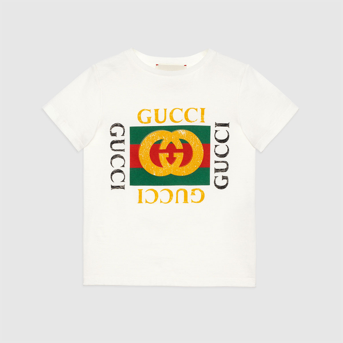 GUCCI kids [Children] Gucci logo printed cotton T-shirt グッチ コットン Tシャツ キッズ