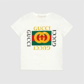 83fd52abf486 GUCCI kids [Children] Gucci logo printed cotton T-shirt グッチ コットン Tシャツ