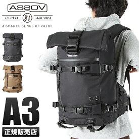 【ポイント2倍】アッソブ AS2OV リュック メンズ 061401 / DOBBY ドビー リュックサック バックパック バッグ ロールトップ 大容量 ブランド ブラック