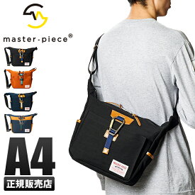 【楽天カード+4倍 12/1限定】マスターピース ショルダーバッグ メンズ 斜めがけ A4 カラビナ付き 日本製 ブランド master-piece LINK 02350