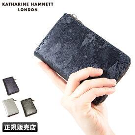 【2万円以上ご購入&楽天カードでP15倍!】キャサリンハムネット 財布 二つ折り財布 迷彩 本革 革 レザー メンズ レディース KATHARINE HAMNETT 490-50201