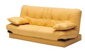 【開梱設置 送料無料】 隠し収納 使い易い ソファベッド 3人掛け ハイバック イエロー 完成品 3P 2P 2人掛け エルメス コンパクト 収納 大容量 北欧 ハイバッグ ソファ そふぁ sofa 家具
