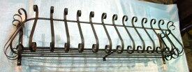 【日本製】フラワーバルコニーS1400mm【ロートアイアン:在庫】屋外用錆止め:溶融亜鉛メッキ加工:フラワーボックス 花台 プランター