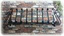 【日本製】フラワーバルコニーS1000mm【ロートアイアン:在庫】屋外用錆止め:溶融亜鉛メッキ加工:フラワーボックス 花台 プランター