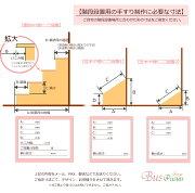 【オーダーメイド:43,000円〜】シンプルな格子の柵手すり・階段の段差設置用【アイアン・日本製】ビス止め・アイアン手すり・鉄・階段手すり