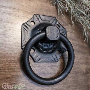 【輸入品】European Ring 取っ手【アイアン:95mm×140mm×D39mm:在庫】取っ手・つまみ・フック・ブラケット・タオルハンガー・金具・引き出し・鉄・吊り下げリング・ドアノッカー