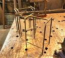 【DIY】スツールの脚3台セット(送料込み) (アイアンの鉄脚のみ※木の板は付属しません※未塗装です※)