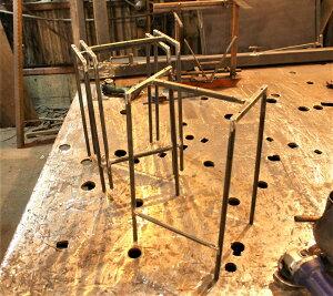 【DIY】スツール脚のみ4台セット【アイアン】(※アイアンの鉄脚のみ※未塗装※) (送料込み)※木の板は付属しませんアイアン 家具 ゴムキャップ付き オーダー寸法製作の場合:1ヶ月程度