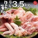 はかた一番どり 人気のお肉4種福袋 3.5kg【送料無料】あらい 鶏肉 もも肉 むね肉 手羽先 ササミ 福岡 お取り寄せ 福岡県よかもんショップ