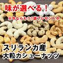 【新発売キャンペーン 1袋プレゼント】スリランカ産大粒カシューナッツ 選べる11種の味 2袋セット 食べ比べ【送料無料】生 素焼き