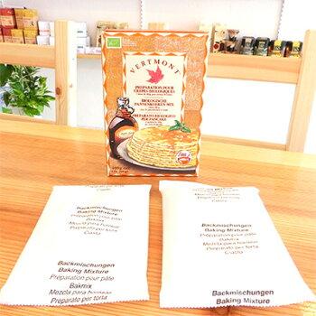 膨らまないパンケーキオーガニック無添加パンケーキミックス400g×3箱+オーガニックメープルシロップ250ml