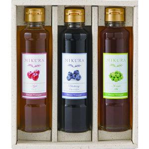 Sweet Vinegar MIKURA 選べる3本ギフトセット(ブルーベリー・青梅・ゆず・マイヤーレモン・ジンジャー生姜) 【送料無料】【産地直送】【三重県】【飲む酢】