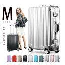 スーツケース  Mサイズ キャリーケース キャリーバッグ  フレームかわいい  TSAロック搭載 一年間保証 超軽量 4…