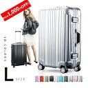 【10,380円→9,340円特価&SALE限定!!】スーツケース Lサイズ キャリーケース キャリーバッグ  フレーム TSAロック…