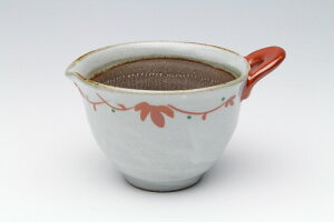 粉引赤絵 納豆すり鉢(大)