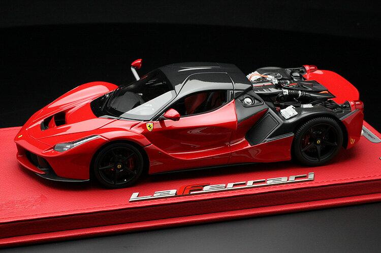 【平日即日発送可能】BBR 1/18 ラフェラーリ リアフード脱着可能 laferrari red/carbon fiber roof P1867OPEN2CH モデルカー ミニカー 2001500100854 送料無料
