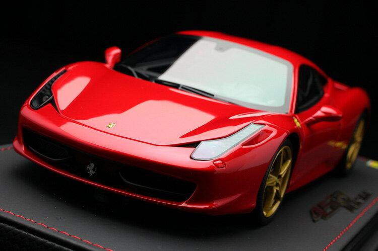 【平日即日発送可能】BBR 1/18 フェラーリ 458 イタリア Italia Rosso Formula One ロッソフォーミュラーワン P18103F1RED1 モデルカー ミニカー 送料無料
