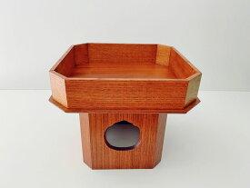 寺院用 仏具(その他) 三宝 ケヤキ 摺漆仕上 7.0寸