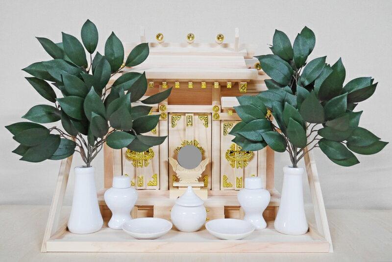 神棚 神具セット 三社 壁掛け神殿 壁付け 神棚セット
