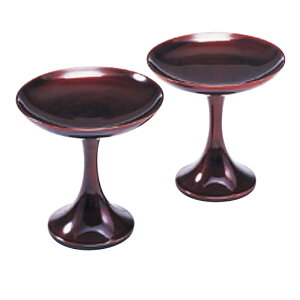 仏具 高月 貫通型 溜 1対 3寸 会津塗 木製