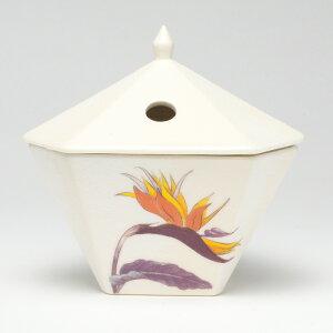仏具・縁香炉(極楽鳥花/白)