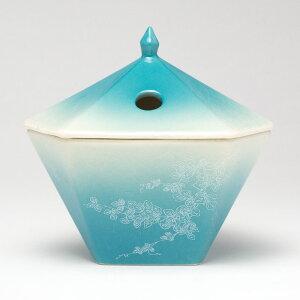 仏具・縁香炉(蔦/青)