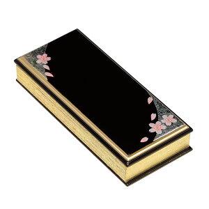 仏具・上蒔絵過去帳 箔散桜(日付有/3.5寸)