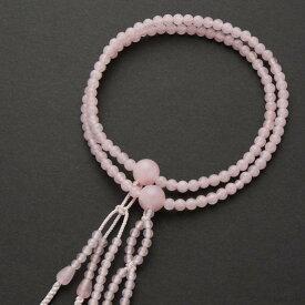 数珠・女性用 日蓮宗仕様本式数珠 紅水晶 5mm 利休梵天正絹房 念珠