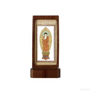 仏壇掛軸・スタンド掛軸 本尊 浄土宗仕様 ウォールナット色 (小)
