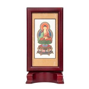 仏壇掛軸 新世紀 軸 ローズ 座釈迦(禅定印) 大