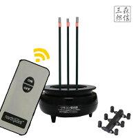 【あす楽】リモコン式LEDお線香ミニ煙の出ない安心LEDお線香FIN-642(LED線香仏具)