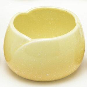 仏具 単品販売 やわらぎ 前香炉 香呂 ゆず色(薄めの黄色) 陶器製 国産 モダン仏具 仏具用品 メモリアル