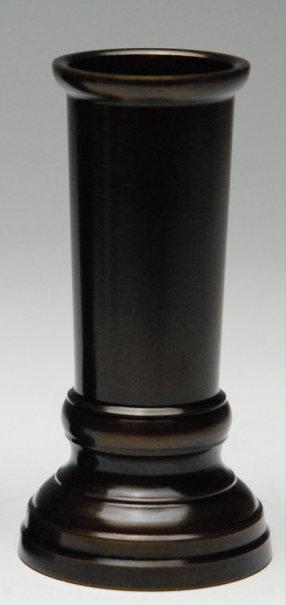 仏具 線香差 真鍮製色付 3号 [3寸] 黒茶色 線香差し しんちゅう製 色付加工 黒光色 磨き直し不要 お手入れ簡単 線香立_線香さし_仏具用品