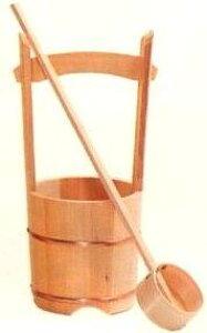 手桶 木製 さわら材 木製手桶 (小) 柄杓 付 手桶セット 御墓参り 墓参用 打ち水