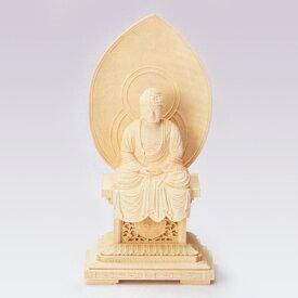 仏像 総柘植 聖美台座 平光背 座釈迦1.8 高180×巾90×奥行53mm