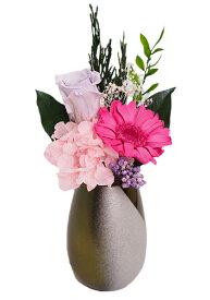 プリザーブド かわいい仏花ミニピンク【小さな仏花】【水いらない】【ピンク】【仏花】【プリザーブド】