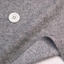 ニット生地    メルトン圧縮ウール起毛ライト裏毛 グレー杢  コットン 50cm単位 はかり売り 手芸 クラフト
