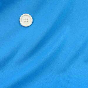 30日ポイント10倍 ニット生地  無地 フライスニット 明るい青 160cm幅コットン 50cm単位 はかり売り 手芸 布 生地