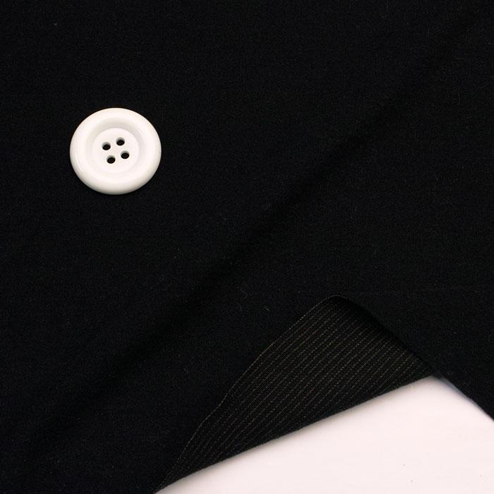 ニット生地    ヒート系でほっこり暖かなジャージバルタンウォーム 黒  コットン 50cm単位 はかり売り 手芸 クラフト