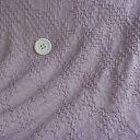 ニット生地 花柄 ふくれ編み クシュクシュ シャーリングラベンダー 150cm幅 50cm単位 はかり売り 手芸 クラフト