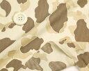 コットン レーヨン ウェーブ 涼しい デザート・カモ 迷彩柄  コットン 50cm単位 はかり売り 手芸 クラフト 生地 布 ファッシ…