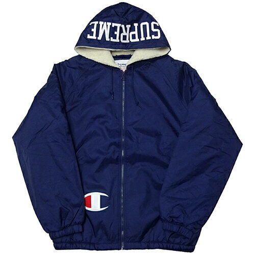Supreme (シュプリーム) × CHAMPION (チャンピオン) SHERPA LINED HOODED JKT