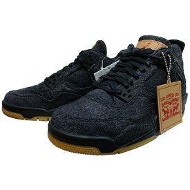 "NIKE (ナイキ ジョーダン) × LEVI'S (リーバイス) AIR JORDAN 4 RETRO LEVIS NRG BG ""BLACK DENIM"" 【AQ9103-001】"