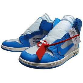 "NIKE AIR JORDAN 1 (ナイキ ジョーダン) × OFF-WHITE NRG ""POWDER BLUE"" 【AQ0818-148】"